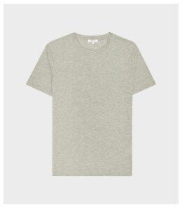 Reiss Bless - Crew Neck T-shirt in Stone Melange, Mens, Size XXL