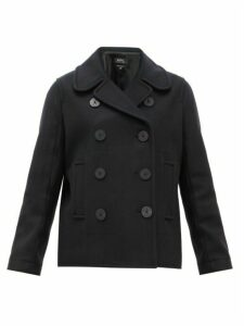 A.p.c. - Double Breasted Wool Blend Peacoat - Womens - Black