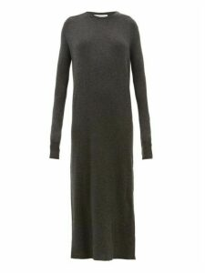 Raey - Crew Neck Ribbed Cashmere Dress - Womens - Charcoal