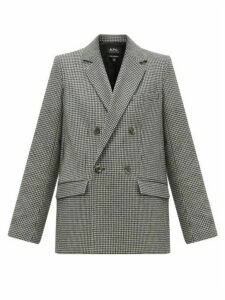 A.p.c. - Prune Houndstooth Wool Blend Blazer - Womens - Black White