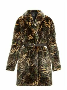 A.p.c. - Luisa Animal Print Faux Fur Coat - Womens - Khaki Multi
