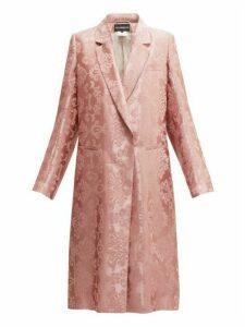 Ann Demeulemeester - Daphne Rose Jacquard Longline Coat - Womens - Light Pink