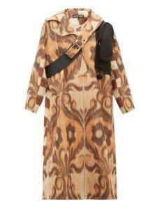 Chopova Lowena - Leather Strap Wool Blend Coat - Womens - Beige