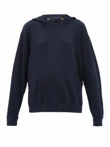 Les Tien - Hooded Cotton Jersey Sweatshirt - Womens - Navy