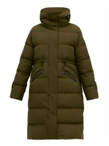 Herno - High Neck Quilted Down Filled Coat - Womens - Khaki