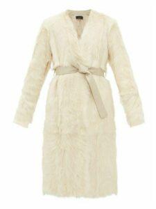 Joseph - Owin Goatskin Shearling Coat - Womens - Cream