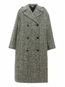 Stella Mccartney - Flecked Wool Double Breasted Coat - Womens - Black White