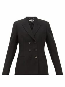 Stella Mccartney - Double Breasted Wool Twill Blazer - Womens - Black