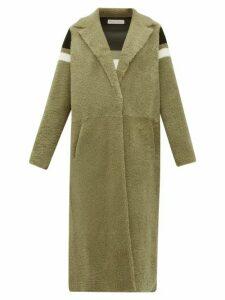 Inès & Maréchal - Striped Shearling Coat - Womens - Green Multi