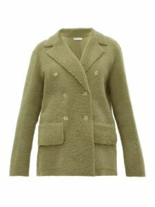 Inès & Maréchal - Frou Frou Double Breasted Shearling Coat - Womens - Light Green