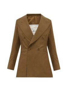 Giuliva Heritage Collection - The Stella Double Breasted Wool Jacket - Womens - Brown