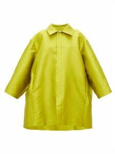 Marques'almeida - Pleated Faille Cocoon Coat - Womens - Green