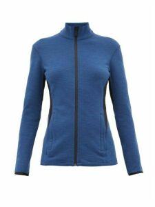Aztech Mountain - Bonnie's Rubberised Logo Zip Through Sweater - Womens - Blue