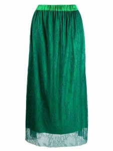 Styland floral lace skirt - Green