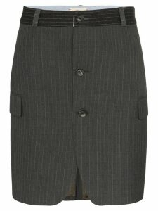 Rentrayage pinstripe mini skirt - Grey