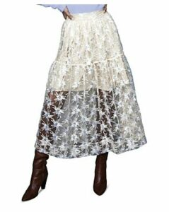 Maje Jizio Sequined Star Midi Skirt