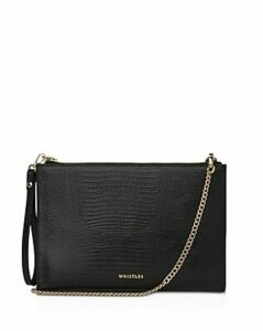 Whistles Hampton Embossed Leather Chain Pouch