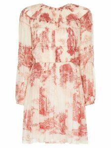 Chloé Toile de Jouey print mini dress - 91T White Red 1