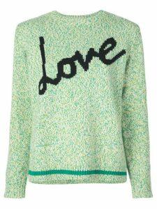 Chinti & Parker Love intarsia jumper - Green