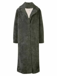 Yves Salomon Meteo oversized midi coat - Green