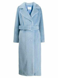 STAND STUDIO Faustine faux fur coat - Blue