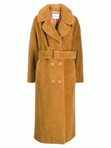 STAND STUDIO Faustine faux fur coat - Brown