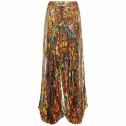 Alice + Olivia Katz Floral-print Silk-blend Maxi Skirt