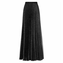 Philosophy Di Lorenzo Serafini Black Glittered Tulle Maxi Skirt