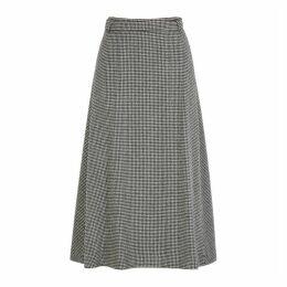 'S Max Mara Tania Houndstooth Wool-blend Midi Skirt