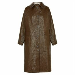 KASSL Brown Coated Linen-blend Coat