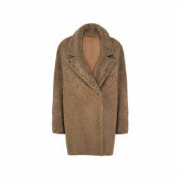 Gushlow & Cole Notch Collar Shearling Short Coat