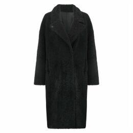 Gushlow & Cole Notch Collar Shearling Coat