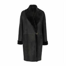 Gushlow & Cole Shawl Collar Shearling Coat
