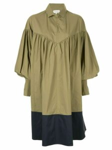 Lee Mathews Elsie balloon sleeve dress - Green