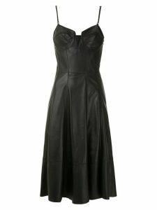 Tufi Duek flared leather dress - Black