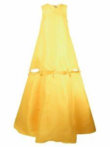 Jonathan Cohen bow tie tent dress - Yellow