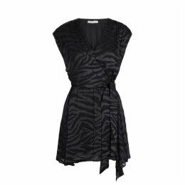 Alice + Olivia Essie Tiger-devoré Chiffon Mini Dress