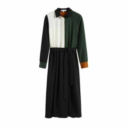 Chinti & Parker Colour-block Wool Twill Shirt Dress