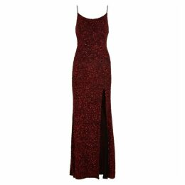 Alice + Olivia Diana Red Sequin Gown