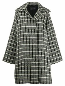 Gianluca Capannolo oversized check coat - Black