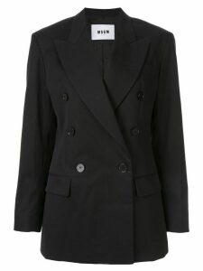 MSGM classic double-breasted blazer - Black