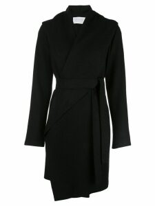 Harris Wharf London wrap front coat - Black