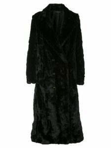 Amiri faux fur double-breasted coat - Black