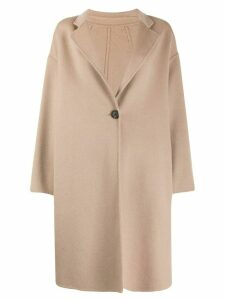 Peserico oversized button up coat - Brown