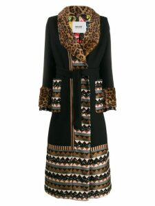 Bazar Deluxe contrast panels coat - Black