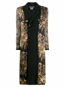 Junya Watanabe floral and paisley coat - Black