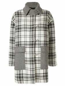 MSGM plaid print coat - WH