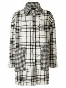 MSGM plaid print coat - Wh
