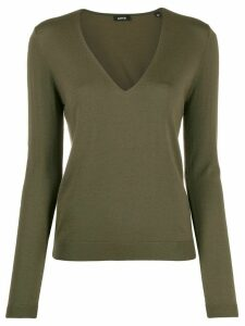 Aspesi V neck jumper - Green