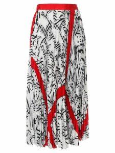MSGM all-over print skirt - White